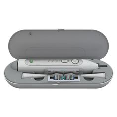 The Elite Sonic Toothbrush with UV Sanitizing Travel Charger provides the ultimate brushing experience in a compact design that is perfect for travel. USB rechargeable battery lasts up to 40 uses. Pow