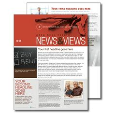 Human resource management newsletter design template by for Realtor newsletter templates
