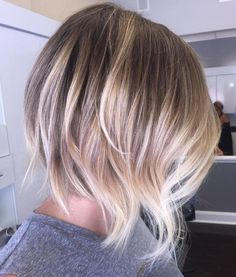 Blonde Balayage Bob With Choppy Layers