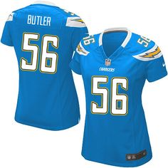 Women Nike San Diego Chargers #56 Donald Butler Limited Electric Blue Alternate NFL Jersey Sale