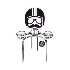 Check out this awesome 'Vespa+Hipster' design on - Thomas & Vespa - Motorrad Vespa Lambretta, Vespa Scooters, Piaggio Vespa, Poster Retro, Vintage Posters, Vespa Illustration, Hipster Illustration, Vespa Logo, Dessin Old School