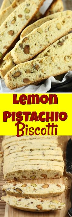 Lemon Pistachio Biscotti is the perfect crunchy treat to enjoy with your morning coffee. My favorite cookies to bake and share!