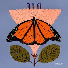 I saw the most beautiful Monarch butterfly yesterday, so I was inspired to paint one. #taralilly #taralillystudio #lillarogersstudio @lillarogers @reinesloan