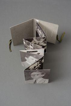 Atelier Dyakova Booklet Design, Brochure Design, Portfolio Book, Portfolio Layout, Accordion Book, Postcard Book, Graphic Design Studios, Handmade Books, Book Binding