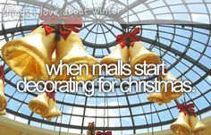 when malls start decorating for christmas