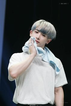 cutie but handsome too #wonho #monstax