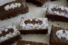Batman Brownies - it's easy to use powdered sugar and any cut-out you want!