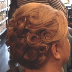 Faux updo for short hair