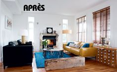 Avant-Après: Un nouveau salon | CHEZ SOI Photo: © TVA Publications | Guy Beaupré #deco #avantapres #transformation #salon #sejour