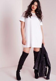 Plus Size Mesh T Shirt Dress Black | My future wardrobe ...