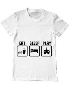 Tricou Tricou Eat sleep play Eat Sleep, Play, Mens Tops, T Shirt, Design, Supreme T Shirt, Tee, Design Comics, Tee Shirt