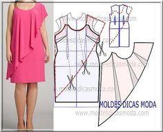 Coupe à plat pour une robe