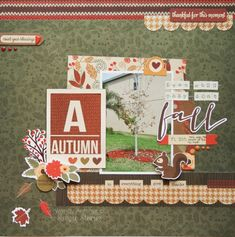 Simple Stories fall autumn scrapbook layout