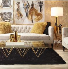 25 Ways To Use White Black and Gold In You Designs. / 25 Ways To Use White Black and Gold In You Designs. White black and gold decor for anywhere in your home. The best ways you can use white black and gold in your design. Home Design, Home Interior Design, Design Ideas, Design Shop, Design Design, Design Inspiration, Home Furniture, Furniture Design, Unique Furniture