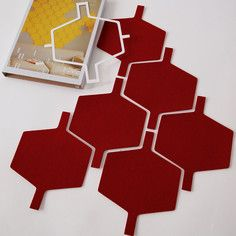 Flock Tiles Dark Red 6 Pk, $23.40, now featured on Fab.
