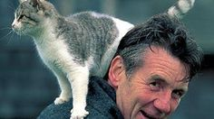 English comedian, actor, writer and television presenter (and Monty Python alum) Michael Palin and cat Monty Python, Crazy Cat Lady, Crazy Cats, Cool Cats, I Love Cats, Celebrities With Cats, Photoshop Celebrities, Smoking Celebrities, Hollywood Celebrities