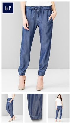 1969 Tencel&#174 denim jogger pants