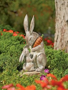 Rabbit Sculpture: Mother's Love Garden Sculpture Mother's Love Garden Sculpture Beatrix Potter, Angel Garden Statues, Garden Angels, Rabbit Sculpture, Classic Garden, Garden Modern, Garden Drawing, Love Garden, Garden Ideas