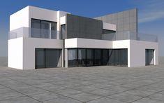 #Edificios #Moderno #Exterior #Dibujos #Fachada #Puertas #Vidrio