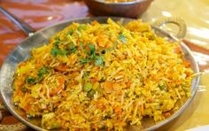Biryani di verdure - Dalla cucina indiana un gustoso piatto unico ricco di verdure con riso basmati e tante spezie, il biryani