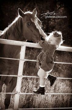 Outstanding Portrait of a little girl and her horse. Photo taken by Erick Gfeller of gfellerstudio.com