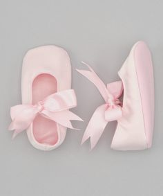 Baby Shoes Pink Satin for Baby Girl