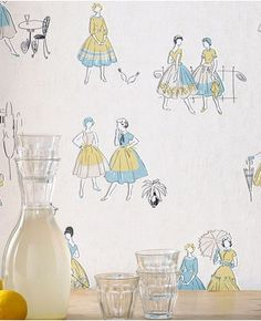 1950's women wallpaper