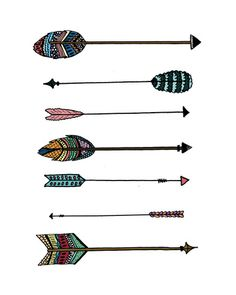 Tribal Arrows Art Print. LOVE the color schemes!! nk
