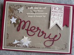 Hand-stamped Christmas cards - Stamp Your Art Out! www.stampyourartout.com
