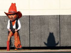 Pistol Pete watches game action during a college football game between Oklahoma State University (OSU) and Savannah State University at Boone Pickens Stadium in Stillwater, Okla., Saturday, Sept. 1, 2012. Photo by Sarah Phipps, The Oklahoman