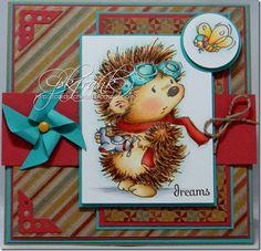 Penny Black hedgehog card