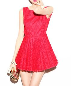Seductive Lace Skater Dress