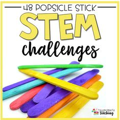STEM Challenges {Popsicle Sticks} encourages critical thinking, engineering skills,cooperation, and creativity! This product focuses on ONLY using Popsicle Sticks when building! STEM Challenges {Popsicle Sticks} can be used as... -Early finisher