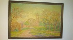 Hey, I found this really awesome Etsy listing at https://www.etsy.com/listing/210595252/vintage-spanish-church-oil-painting