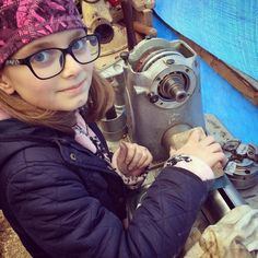 Although her stomach pain kept her off school it didn't stop her later helping with the headstock bearings on my lathe. #stovelldesign #engineeringforkids #girlsinengineering #girlengineer #lathe #woodlathe