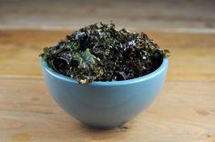Kale Chips with Lemon and Garlic - I <3 kale!