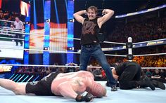 Dean Ambrose will be looking to take some aggression out on Brock Lesnar. (WWE)