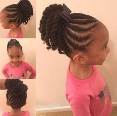 Twist Hairstyles For Kids Little Girl Cornrowtwist Ponytail Hairstyle  Cute Styles ~ Jazzi's