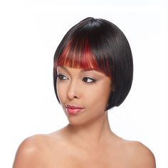 HH REMI KOLOS -   HH Remi wig is precut and trimmed to be customized to your personal needs and can be worn instantly.  The straight bang trimmed to a length that will not irritate your eyes and designed to look more natural than traditional china bang.