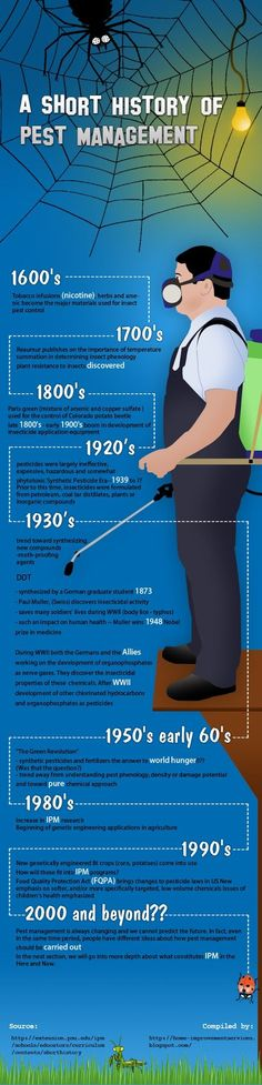 This interactive design of infographic is briefly explaining a short history which is conducted in pest management. Kelvin Roger the. Diy Pest Control, Termite Control, Pest Control Services, Natural Pesticides, Hypothyroidism Diet, World Hunger, Pest Management, Home Improvement Loans, Beneficial Insects