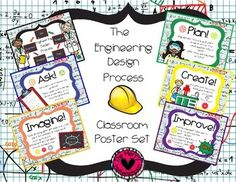 Black and Neon ... Please enjoy these classroom posters  to promote the use of the Engineering Design Process!Great for Bulletin Boards!