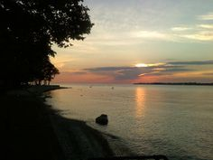 Sunset at the shore, Middle Bass Island, Ohio