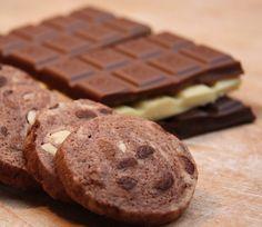 Schokolade mit Schokolade dazu Schokolade als Keks