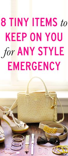 Fashion emergency? These 8 items  will solve it all! #essentials