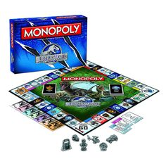 MONOPOLY®: Jurassic World™ Edition Jurassic World MONOPOLY delivers more dinosaurs, more attractions and lots of buying and selling as you attempt to rule Jurassic World. Collectible tokens, Jurassic