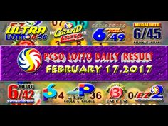 PCSO LOTTO RESULTS FEBRUARY 17, 2017 ( EZ2, SWERTRES, 4D, 6/45 & 6/58) Lotto Results, Oita, February 6th, Youtube, Draw, To Draw, Sketches, Painting, Youtubers