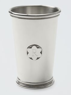 Not just for the Kentucky Derby, our signature Mint Julep cups can hold anything from cocktails to delicate flower bouquets. Customize yours with a single initial engraved onto the pretty magnolia detail. Mint Julep Cups, Celebrate Good Times, Draper James, Reese Witherspoon, Cool Bars, Southern Style, Groomsman Gifts, Hostess Gifts, Shot Glass