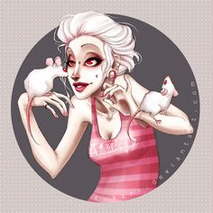 Albino Girl by Fukari.deviantart.com