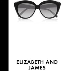 Sunglasses by ELIZABETH AND JAMES These are beautiful oversized cat eye sunglasses super chic and posh comes with their case and wipe cloth they are brand new Elizabeth and James Accessories Sunglasses
