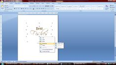 A load of old pickle: How to make fancy sentiments using text boxes in word